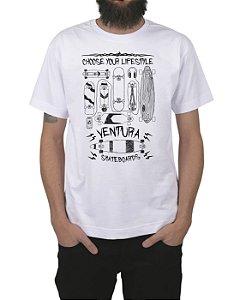 Camiseta Ventura Choose Your Lifestyle Branca