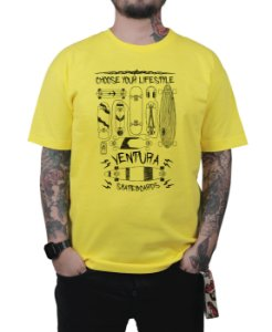 Camiseta Ventura Choose Your Lifestyle Amarela