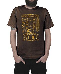 Camiseta Ventura Choose Your Lifestyle Marrom