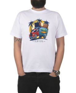 Camiseta Ventura Skate Truck Branca