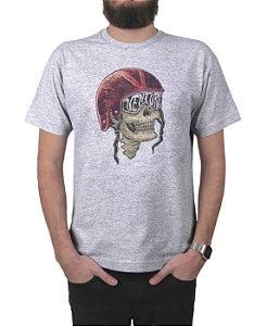 Camiseta Ventura Skull Captain Cinza Mescla