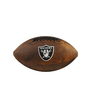 Bola de Futebol Americano NFL Throwback Las Vegas Raiders