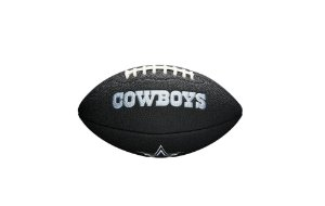 Bola de Futebol Americano NFL Black Dallas Cowboys