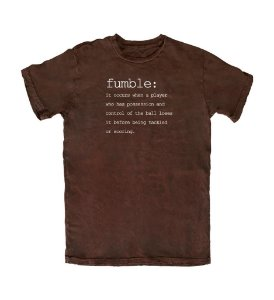 Camiseta PROGear Dictionary: Fumble