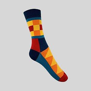 Meia Really Socks Colorful Square