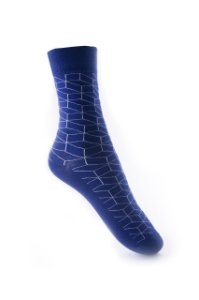 Meia Really Socks Geometric Azul