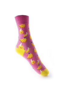 Meia Really Socks Food Pink banana