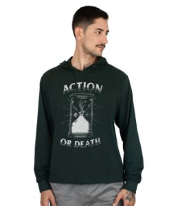 Blusa Action Clothing Action Or Death Verde