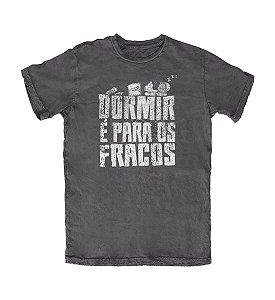 Camiseta Everaldo Marques Dormir é para os Fracos Chumbo