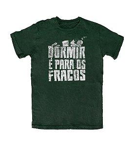 Camiseta Everaldo Marques Dormir é para os Fracos Musgo