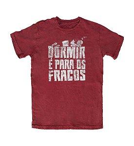 Camiseta Everaldo Marques Dormir é para os Fracos Vinho