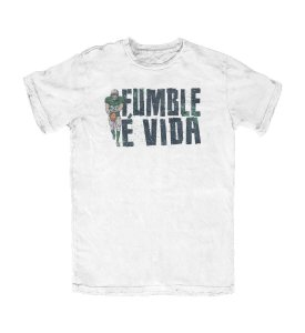 Camiseta Everaldo Marques Fumble É Vida Branca