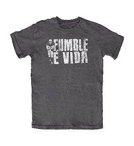 Camiseta Everaldo Marques Fumble É Vida Chumbo