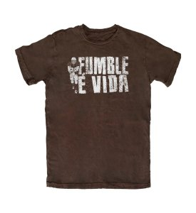 Camiseta Everaldo Marques Fumble É Vida Marrom