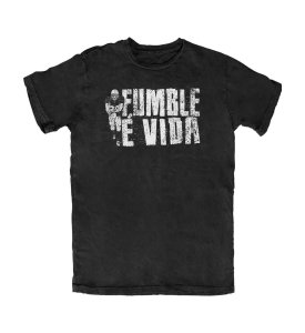 Camiseta Everaldo Marques Fumble É Vida Preta