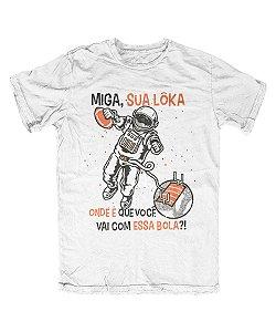 Camiseta Everaldo Marques Miga Sua Lôka Branca