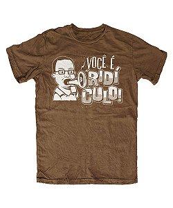 Camiseta Everaldo Marques Você É Ridículo Marrom