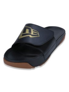 Chinelo New Era Slide Preto/Dourado