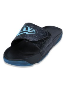 Chinelo New Era Slide Grain Preto/Azul