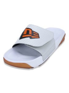 Chinelo New Era Slide Cinza/Branco