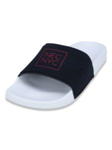 Chinelo New Era Slip-on NYC Marinho/Branco