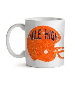 Caneca Helmet Denver Mile High Branca