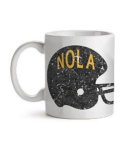 Caneca Helmet New Orleans NOLA Branca