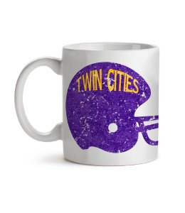 Caneca Helmet Minnesota Twin Cities Branca