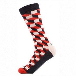 Meia Really Socks Classic Vermelho