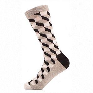 Meia Really Socks Classic Cinza