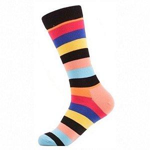Meia Really Socks Stripes Rosa