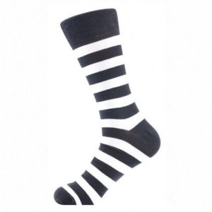 Meia Really Socks Stripes Preto
