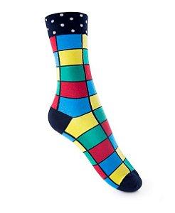 Meia Really Socks Xadrez Color