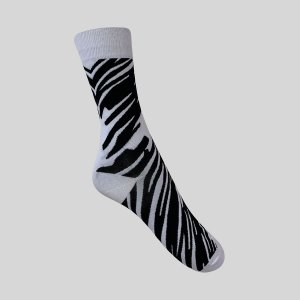 Meia Really Socks Animal Print Zebra 1