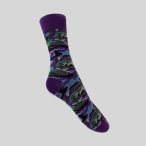 Meia Really Socks Camo Roxo