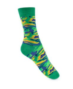 Meia Really Socks Camo Verde