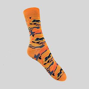 Meia Really Socks Camo Laranja
