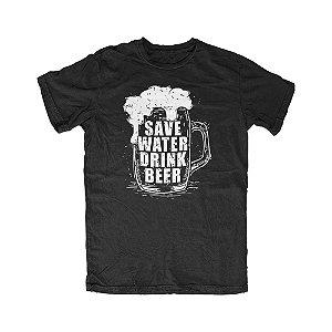 Camiseta Save Water Drink Beer