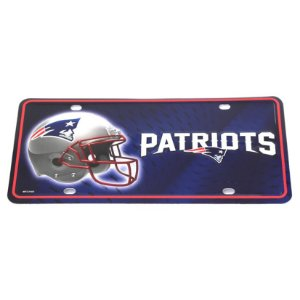 Placa Decorativa New England Patriots