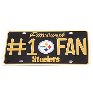 Placa Decorativa Pittsburgh Steelers Fan #1