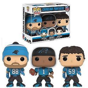 Funko NFL Carolina Panthers - Sports Greg Olsen, Cam Newton & Luke Kuechly - Figure 3-Pack