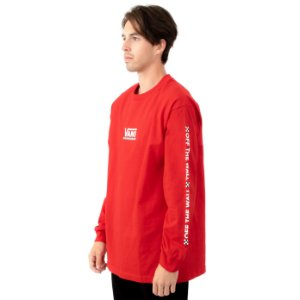 Camiseta Vans Manga Longa Checkmate Racing Red