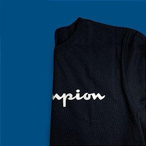 Camiseta Manga Longa Champion Heritage - Navy - The ONE