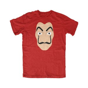 Camiseta La Casa de Papel Dalí - Vermelha