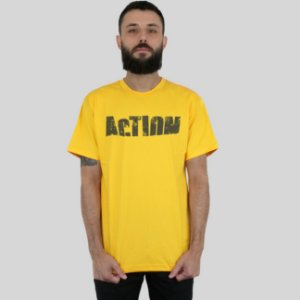 Camiseta Action Clothing Sign Amarela