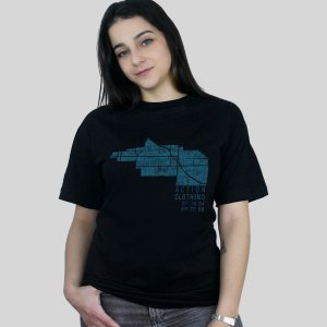 Camiseta Action Clothing Latitude Preta