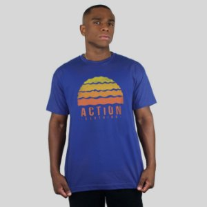Camiseta Action Clothing Gradient Royal