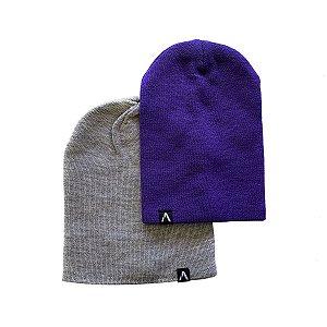 Kit Gorro Action Clothing Mescla + Roxo