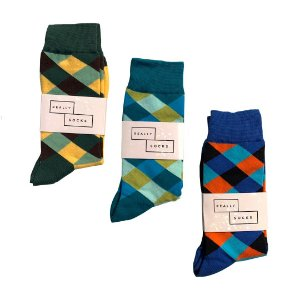 Kit 7 - 3 Meias Really Socks Patchwork