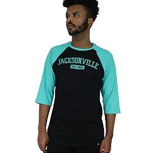 Raglan Profootball Jacksonville Preto/Verde
